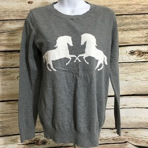 Ann Taylor Loft Medium Sweater Horse G5